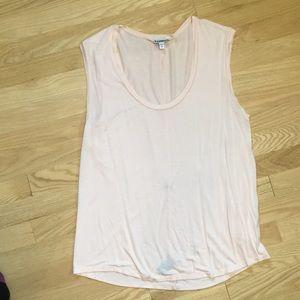 Express sleeveless top, blush pink
